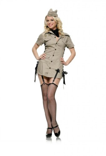 Pin Up Army Girl Adult Costume - -