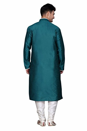 Mens-Traditional-Clothing-Indian-Bollywood-Silk-Blend-Kurta-Churidar-Set