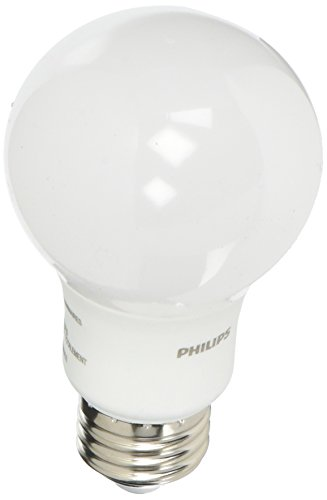 Philips 800-Lumen, 8.5W A19 LED Light Bulb, 60W Equivalent (4-Pack) White 461129