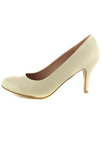 ANDRES MACHADO - Damen Pumps Brautschuhe - Beige Schuhe in Übergrößen