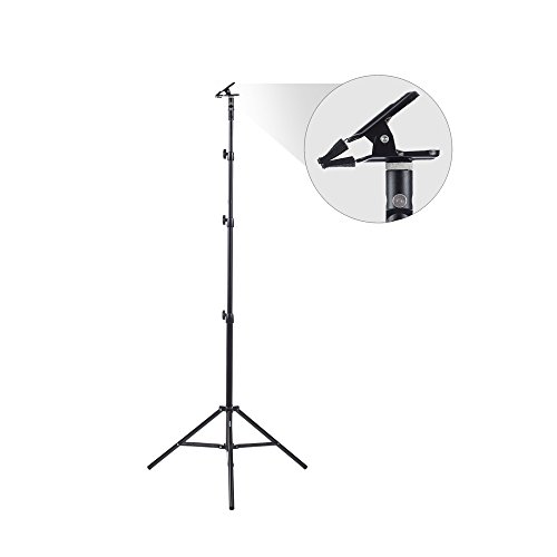 Fovitec - 1x Multi Purpose Heavy Duty Clamp Kit - [8'6'' Stand Included][Holds Reflectors, Backdrops & Diffusers][180 Degree Positioning][Metal Construction] by Fovitec