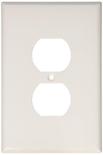 Eaton 2142W-BOX Thermoset 1-Gang Oversize Duplex Receptacle Wallplate, White