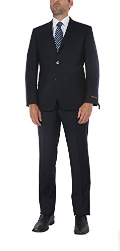 P&L Men's Premium Slim Fit 2-Piece Suit Blazer Jacket & Flat Pants Set