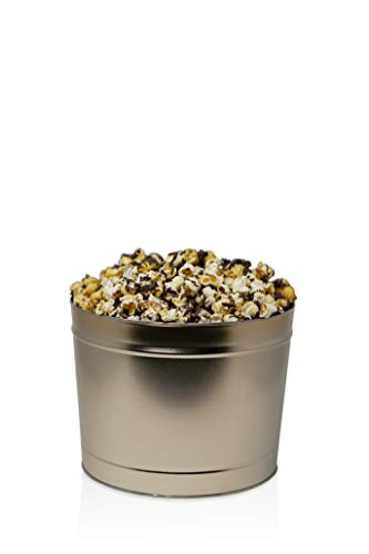 The Chocolate Lover Popcorn Tin: Handcrafted Caramel w/Chocolate, Kettle w/Chocolate, and Dark Chocolate Caramel Sea Salt| Perfect for Movie Nights, Care Packages, and Gift Boxes (2.0 Gallon Gold)