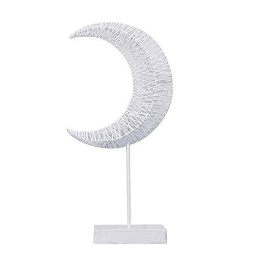 (NNCTA Rattan Woven Stars Moon LED Night Light Table Lamp Decoration Ornament)