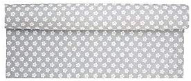 Krasilnikoff Hellgrau mit wei/ßen Blumen 100/% Baumwolle 50 x 160 cm Tischl/äufer Table Runner