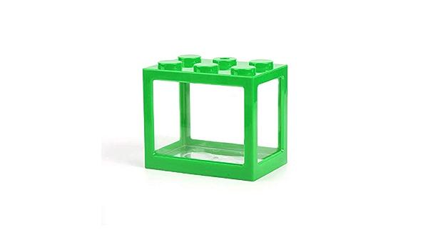 NWHEBET Mini Cube Fish Tank,Stackable Aquarium Building Block Design Fish Tank Block Reptile Box Office Table Decoration Ocean Micro-Landscape Box Miniature Pet Box
