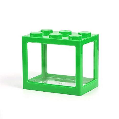 LAIZETONGXUN Mini Cubo Acuario, Bloque de construcción de ...