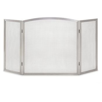 Stainless fireplace screen