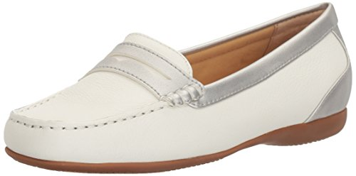 Women's Silver Penny Staci Trotters Loafer White 6B0nqT