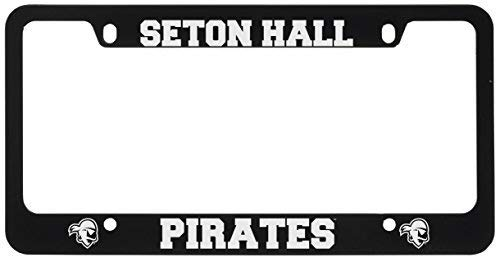 Seton Hall University -Metal License Plate Frame-Black (Hall Of Metal)