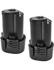 RitzyRose BL1013 lithium-ion-accu, 10,8 V, 3000 Ah, oplaadbaar, voor elektrische boormachine, vervangt accu's, 2 verpakkingen