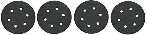 PORTER-CABLE 18001 6-Inch 6-Hole Hook and Loop Standard Pad for 7336 and 97366 Random Orbit Sander (4) by PORTER-CABLE