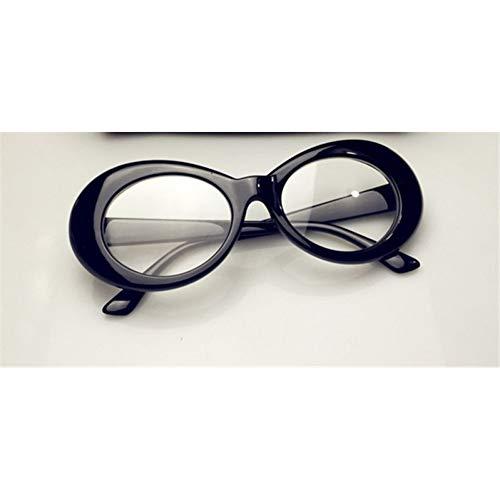Cadre Lllm Uv400 Clear Hommes Soleil Treillis De Black Ovales Jaune Noir Lunettes Femmes rn7S8r