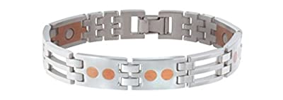 Sabona Stainless/Copper Link Magnetic Wristband
