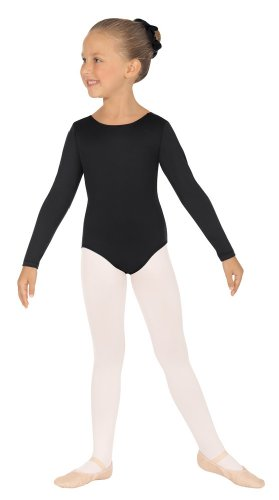Eurotard  44265c Child Long Sleeve Leotard (White, X-Large)