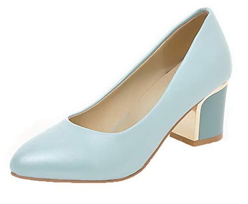 FBUIDD006723 Ballet Flats Azzurro Donna Luccichio Tirare Chiusa Puro AllhqFashion Punta 8qAfTnY