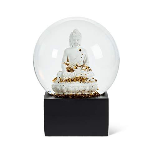 Abbott Collection 27-WOW-2985 Lg Wht Buddha Water Globe-6