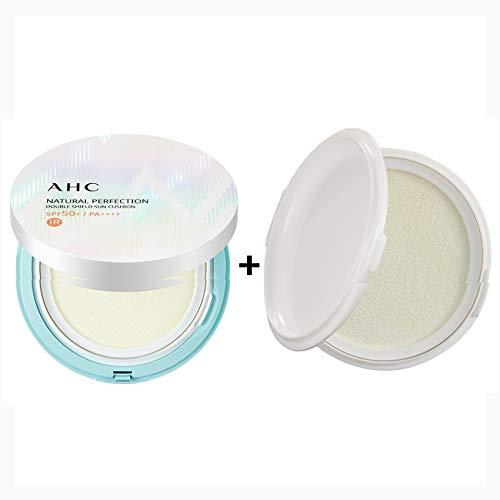 ([AHC] NATURAL PERFECTION DOUBLE SHIELD SUN CUSHION (SPF50+/PA++++) An Original Pack25g+A Refill25g (01.WHITE CASE-An Original Pack25g+A Refill25g))