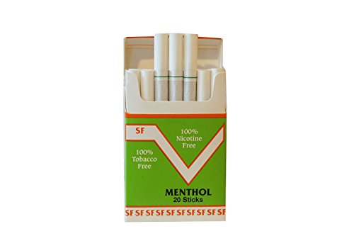 One Pack Made In Usa Since 1998 100  Nicotine Free Cocoa Bean Cigarettes  Menthol Flavor