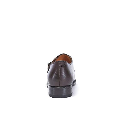 Fibbia Strap Testa Con Moro Colore Donna Brown Scarpa Cap Toe Decorazione Dark Di Doppia Monk EPC8wCdq
