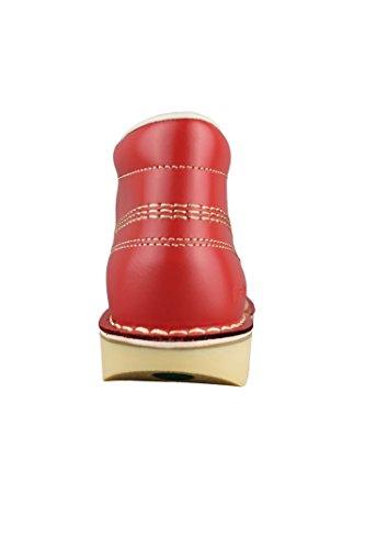 Kickers Kick Hi W Core Donna Rosso Naturale con Lacci in Pelle Scarpe Stivali