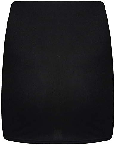 Shop & Stop New Women Plain Bodycon Stretch Short Mini Office Pencil Ladies Skirt 8-18
