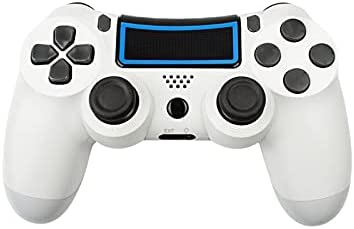Wireless Controller for Playstation 4,Professional PS4 Gamepad with Built-in Speaker/Multi-Touch Clickable Touch Pad for PS4 PC Windows iPhone Android-White