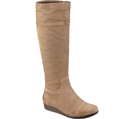 Platform Shaft Boot - Easy Spirit Women's Jarada Knee High Wedge Boot,Dark Taupe/Dark Taupe Fabric,US