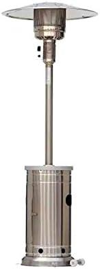 Style Selections/Garden Treasures 48,000 BTU Stainless Steel Floorstanding Liquid Propane Patio Heater
