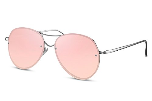 de Monture invisible Lunettes métal effet Cheapass aviateur de Hommes UV400 verres 004 soleil Femmes Pilote faites Ca Rondes plats miroir Rn6Pgq6F