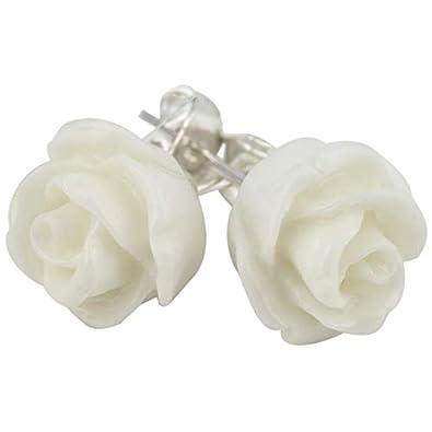 meilleur fournisseur factory images détaillées Boucles d'oreille en forme de fleur de rose: Amazon.fr: Bijoux