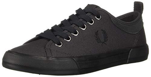 Fred Perry Men Horton Waxed Canvas/Suede Sneaker Anchor Grey