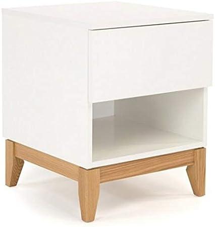 Paris Prix - Table De Chevet Design Blanco 55cm Blanc ...