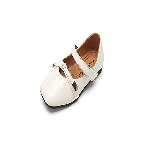 excellent.c Classic peas Shoes Kids Shoes Cute Princess Shoes Flat Shoes Loafers(White 30/12 M US Little Kid) ()