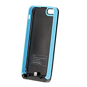 YXF 2500mAh Battery Case Blue for iPhone 5 5C 5S