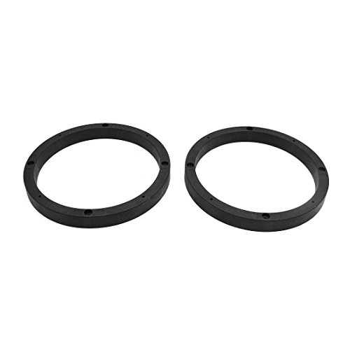 uxcell 2pcs Universal Black 6.5'' Car Audio Speaker Mounting Spacer Rings Bracket by uxcell