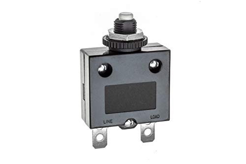 (SEACHOICE 13091 Push Button Circuit Breaker 5A)