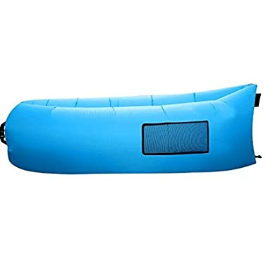 SENQIAO Inflatable Lounger Outdoor or Indoor Air Sleep Sofa Couch Portable Furniture Waterproof Nylon Fabric Sleeping Compression Sacks for Summer Camping Beach.(blue)