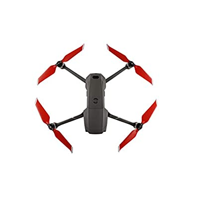 Huaye Mavic 2 Drone PC Paddle 8743F Propellers Quick Release Folding Drone Accessories for DJI Mavic 2 Pro/Mavic 2 Zoom (Red, 2 Pairs): Toys & Games