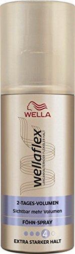 Wella wellaflex 2 de día de volumen secador de spray para extra fuerte sujeción, 6