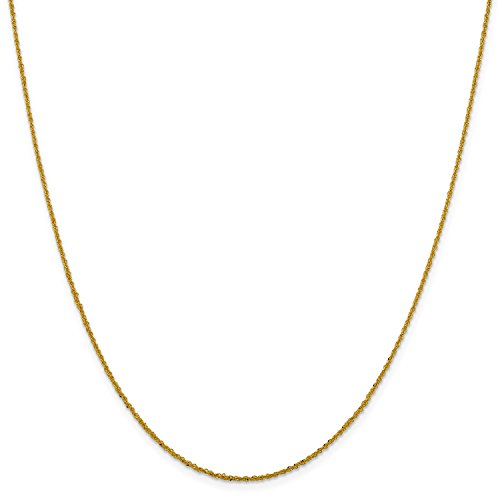 Roy Rose Jewelry Leslies 14K Yellow Gold Sparkle Singapore Chain Necklace ~ Length 18'' inches (Gold Sparkle Singapore Chain)