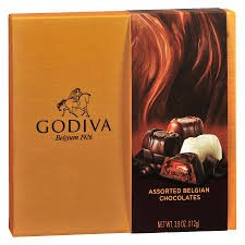 Godiva Assorted Belgium Chocolates Gift Box