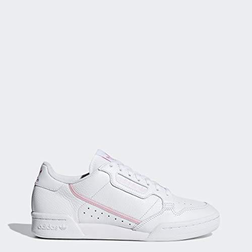 adidas Originals Women's Continental 80 Sneaker, White/True Clear Pink, 6.5 Medium US