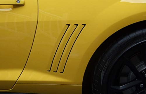 Chevy Camaro Side Gill Vent Decal Insert Stripes Inlays Vinyl 2011 2012 ()
