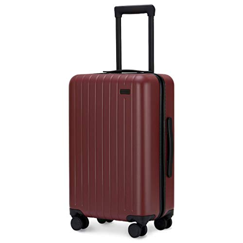 GoPenguin Luggage, Carry On Luggage with Spinner Wheels, Hardshell Suitcase for Travel with Built in TSA Lock Red ()