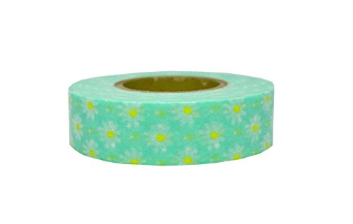 (Petit Joie Daisy Washi Masking Deco Tape Made in Japan 15mm)