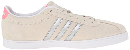 Adidas Neo Courtset W zapatilla de deporte, negro de plata / metálico / azul, 5 M US Bone/Matte Silver/Light Flash Red