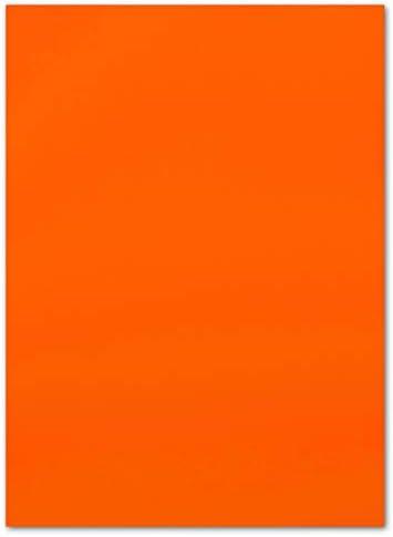 250 Blatt Leuchtpapier DIN A4-21,0 x 29,7 cm - Neonpapier Orange - 80 g/m² - Rückseite Weiss - Plakatpapier für Leuchtplakate - Glüxx-Agent