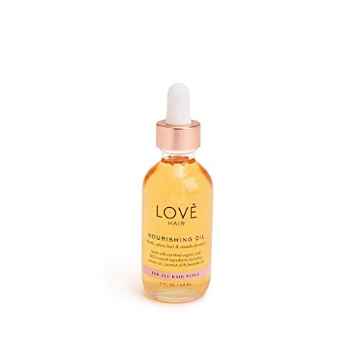 Nourishing Hair Oil by Love Hair | Glossy Frizz-Free Hair, Effective on All Hair Types | No Parabens, No Sulfates, No Synthetic Fragrances, 100% Naturally Derived, Cruelty Free, Certified Vegan